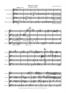 Kanon C-Dur: para quarteto de saxofone by Thomas Hans Graf
