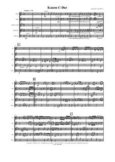 Kanon C-Dur: Para quarteto de sopro by Thomas Hans Graf