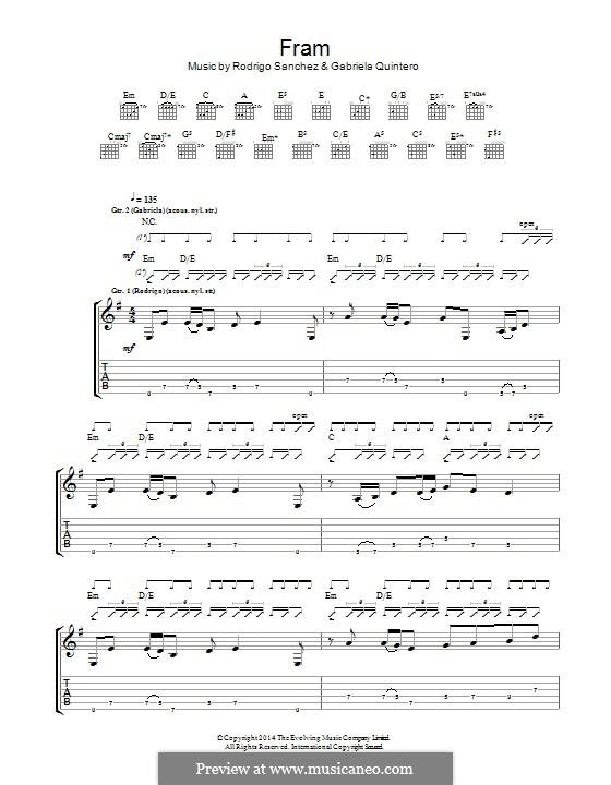Fram: Para guitarra com guia by Gabriela Quintero, Rodrigo Sánchez