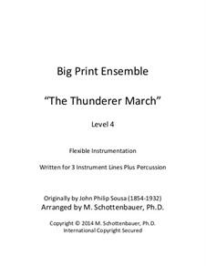 Thunderer: For flexible instrumentation by John Philip Sousa