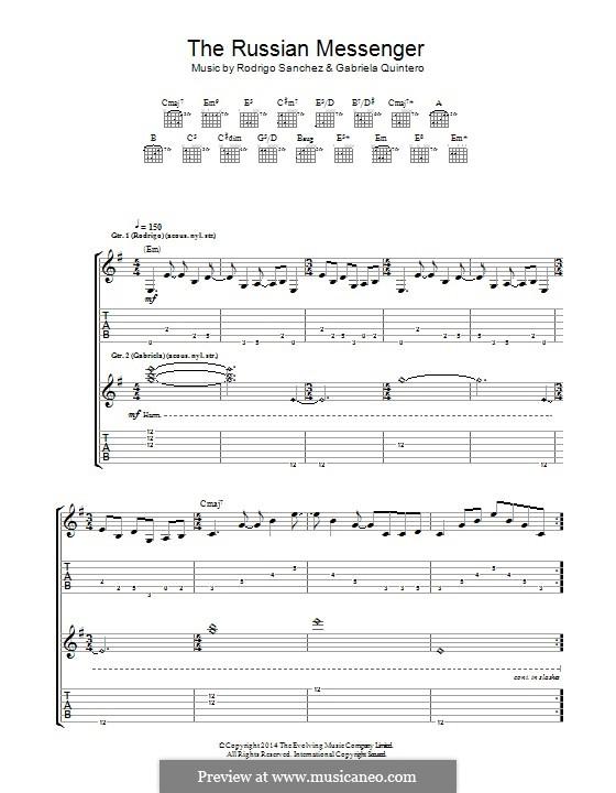 The Russian Messenger: Para guitarra com guia by Gabriela Quintero, Rodrigo Sánchez