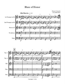 Blaze of Honor: partitura completa by Harry J. Lincoln