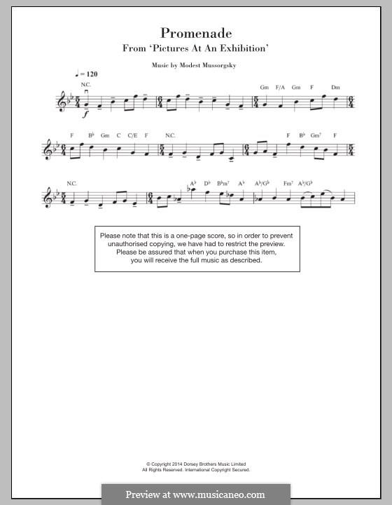 Promenade I: para violino by Modest Mussorgsky