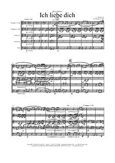 Ich liebe dich (I Love Thee), WoO 123: Para quinteto de metais by Ludwig van Beethoven