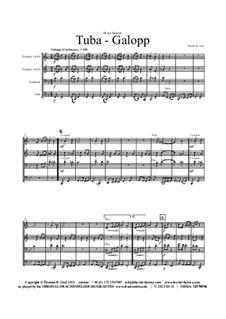 Tuba Galopp: para quarteto de bronze by Thomas Hans Graf
