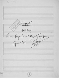 Gespenster for Tenor and Piano: Gespenster for Tenor and Piano by Ernst Levy