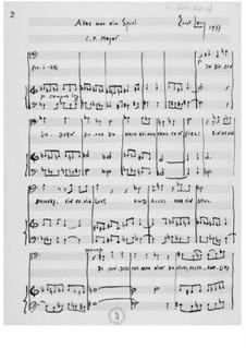 Alles war ein Spiel for Baritone and Piano: Alles war ein Spiel for Baritone and Piano by Ernst Levy