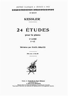 Twenty-Four Etudes for Piano, Op.20: Volume I by Joseph Christoph Kessler