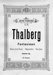 Grand Fantasia on Themes from 'Don Giovanni' by Mozart, Op.42: Para Piano by Sigismond Thalberg