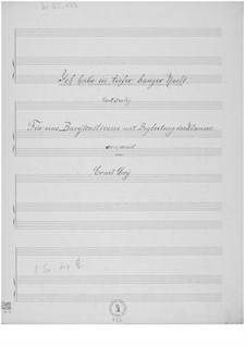 Ich habe in tiefer, banger Nacht for Baritone and Piano: Ich habe in tiefer, banger Nacht for Baritone and Piano by Ernst Levy