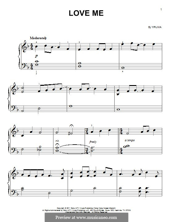 Love Me: Facil para o piano by Yiruma