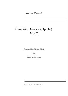No.7 Skočná: For septet clarinets by Antonín Dvořák