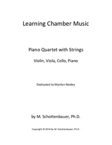Learning Chamber Music: Piano quartet with strings by Michele Schottenbauer
