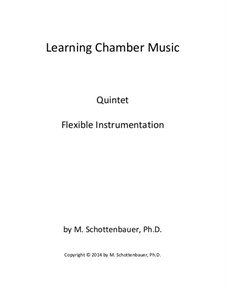 Learning Chamber Music: Quintet for flexible instrumentation by Michele Schottenbauer