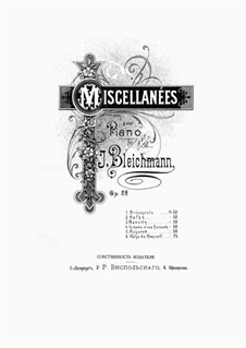 Miscellanées, Op.28: Miscellanées by Yuly Ivanovich Bleikhman