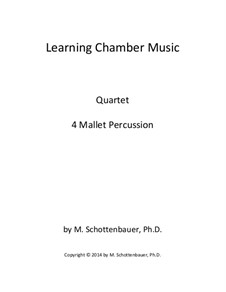 Learning Chamber Music: Mallet percussion quartet by Michele Schottenbauer