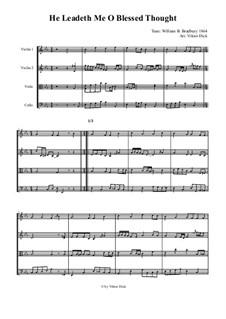 He Leadeth Me: para quartetos de cordas by William Batchelder Bradbury