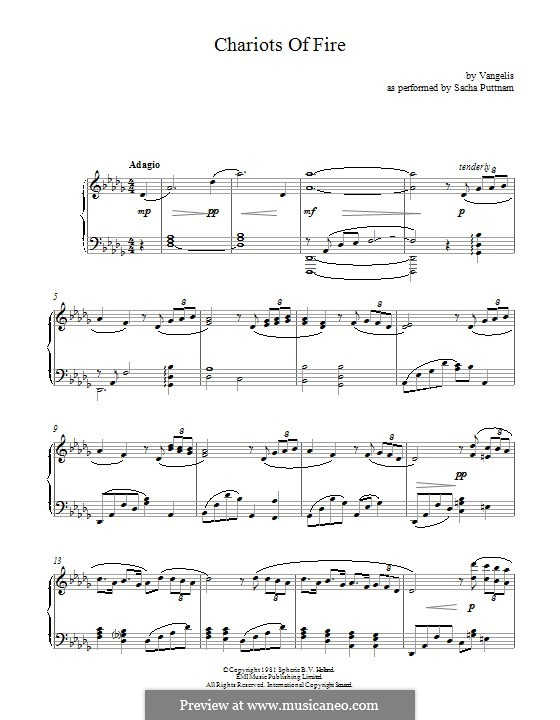 Chariots of Fire: Para Piano by Vangelis