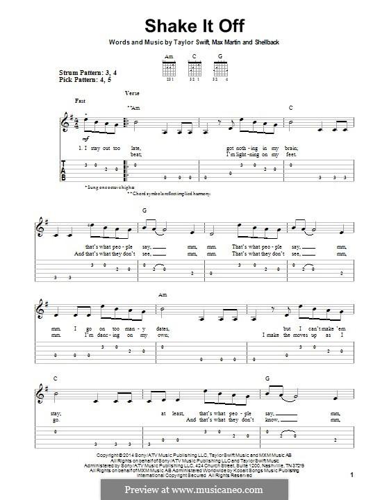 Shake it Off: Para guitarra com guia by Shellback, Max Martin, Taylor Swift