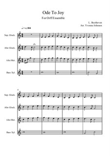 Ode to Joy: Version for orff ensemble by Ludwig van Beethoven