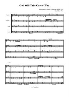 God Will Take Care of You: para quartetos de cordas by W. Stillman Martin
