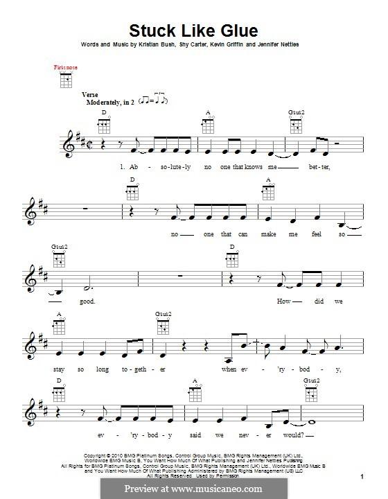 Stuck Like Glue (Sugarland): para ukulele by Jennifer Nettles, Kevin Griffin, Kristian Bush, Shy Carter