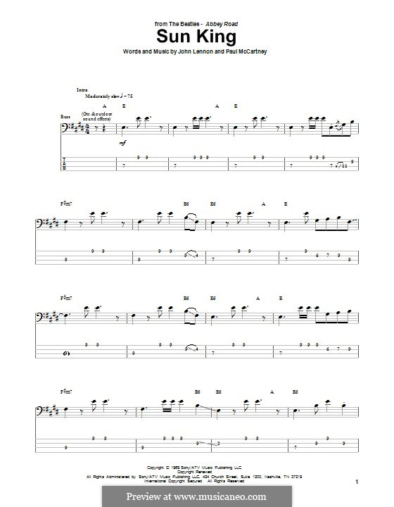 Sun King (The Beatles): para baixo com guia by John Lennon, Paul McCartney