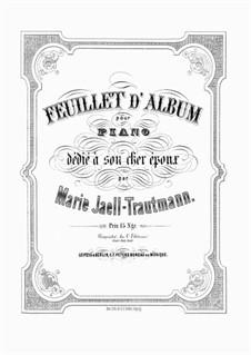 Feuillet d' Album: Feuillet d' Album by Marie Jaëll