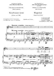 Sleep, Son of Peasants: Para voz e piano (primeira edição) by Modest Mussorgsky