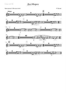 No.12 Knecht Ruprech (Saint Nicholas): Orchestration – corno in F III part by Robert Schumann
