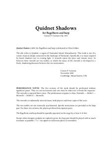 Quidnet Shadows (2009) for flugelhorn and harp, Op.849: Quidnet Shadows (2009) for flugelhorn and harp by Carson Cooman
