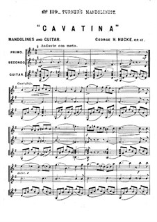 Cavatina, Op.61: Cavatina by George H. Hucke