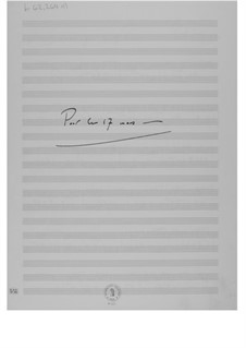 Pour le 17 mars: Pour le 17 mars by Ernst Levy