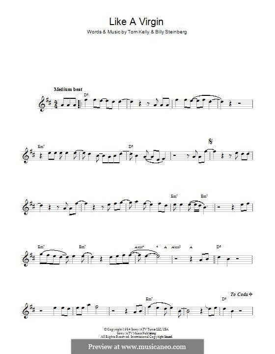 Like a Virgin (Madonna): para flauta by Billy Steinberg, Tom Kelly