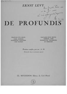 De profundis. Fantasia for Choir, Organ, Horns, Trumpets, Trombones and Timpani: De profundis. Fantasia for Choir, Organ, Horns, Trumpets, Trombones and Timpani by Ernst Levy
