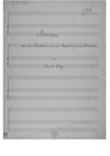 Romance for One Instrument with Accompanying Piano: partitura by Ernst Levy