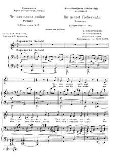 What are Words of Love to You: Textos em russo e alemão by Modest Mussorgsky