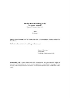 Every Which Shining Way (2009) for trumpet and piano, Op.807: Every Which Shining Way (2009) for trumpet and piano by Carson Cooman