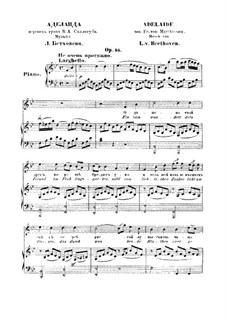 Adelaide, Op.46: For voice and piano (Russian and german texts) by Ludwig van Beethoven