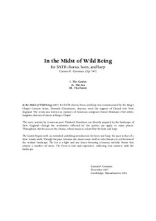 In the Midst of Wild Being (2007) for SATB chorus, horn and harp, Op.745: partitura by Carson Cooman