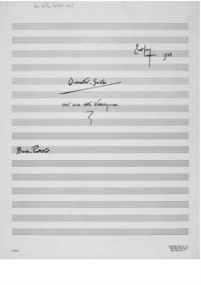 Suite for Band on an Old Folk Hymn: Condensed Score by Ernst Levy