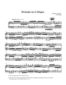 Prelude in G Major: Para Piano by Nikolai Rimsky-Korsakov