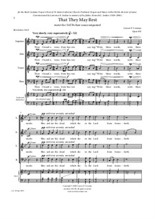 That They May Rest, motet for a capella SATB chorus, Op.835: That They May Rest, motet for a capella SATB chorus by Carson Cooman
