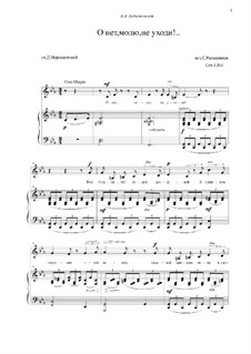 Six Romances, Op.4: No.1 Oh No, I Beg You, Forsake Me Not! by Sergei Rachmaninoff