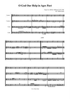 O God, Our Help in Ages Past: para quartetos de cordas by William Croft