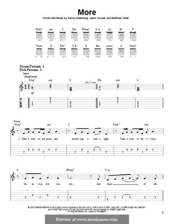 More (Matthew West): Para guitarra com guia by Jason Houser, Kenny Greenberg