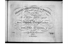 Adagio, Variations and Rondo on Song 'Pretty Polly', Op.75: Adagio, Variations and Rondo on Song 'Pretty Polly' by Johann Nepomuk Hummel