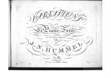 Variations on an Original Theme, Op.76: variações em temas originais by Johann Nepomuk Hummel