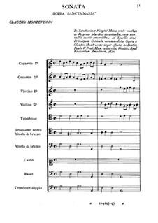 Sonata sopra 'Sancta Maria': Sonata sopra 'Sancta Maria' by Claudio Monteverdi