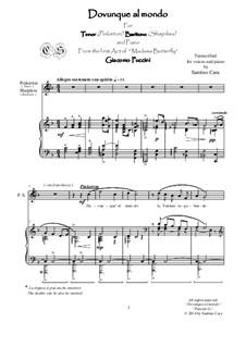 Madama Butterfly : Dovunque al mondo, for tenor, baritone and piano, CSPG12 by Giacomo Puccini